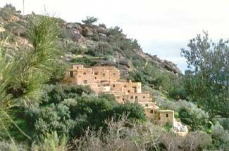 The Cretan landscape varies.