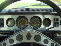 Dashboard of my car that took me to Crete