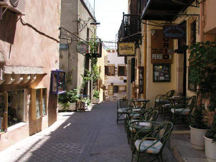 Side streets at Chania.