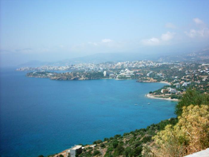 Distant view of Agios Nikolaos