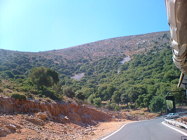 looking back on the steep climb to Krassi