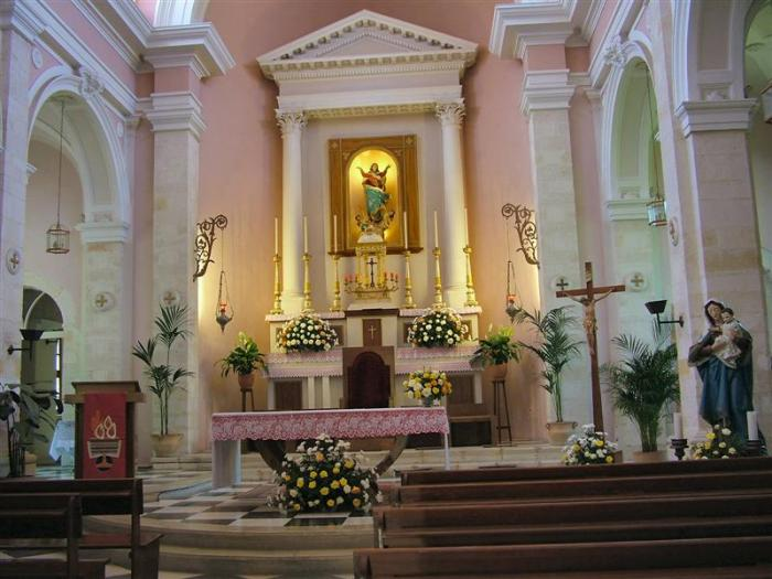 Inside Catholic Church Xania