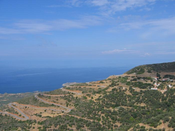 The very west of Crete.