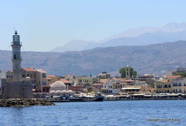 Entrance to Chania Harbour from the sea, good photospot