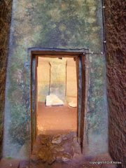 Minoan Burial Chamber Entrance, good show of the lighting.