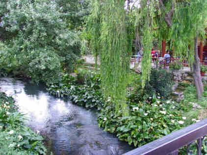 River in Kalyves and Potomas bar